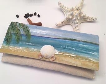 Beach handmade Clutch