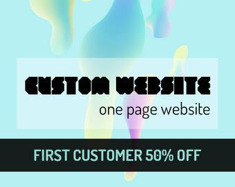 Cutom One-page Website, Custom One-page Website Design, Custom one-page Web design, Custom Landing Page