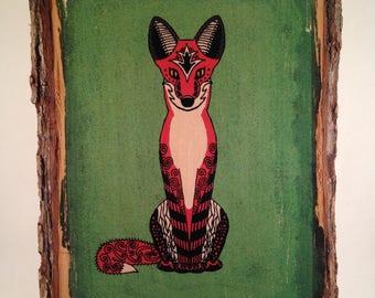 Fox Wood Print (Medium)