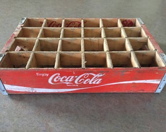 coca cola crate etsy. Black Bedroom Furniture Sets. Home Design Ideas