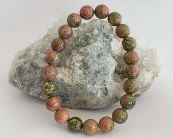 Bracelets beads pearls Unakite 21