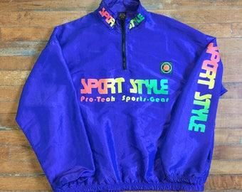 Sport Style Quarter Zip Windbreaker