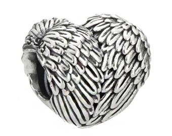 Genuine CHARM Bead Heart SILVER CHARMING for Pandora jewelry Sterling Silver S925