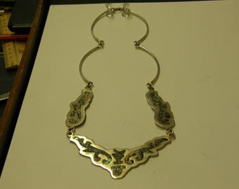 Vintage Mexico Sterling Silver Necklace - 18 Inches