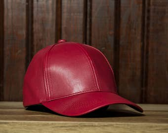 OpasBRAND Vegan Leather Hat - Burgundy