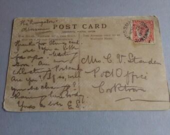 1906 postcard and stamp