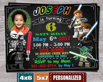 Lego Invitation, Lego Star Wars Invitation, Star Wars Invitation, Lego Star Wars Invite, Lego Star Wars Birthday, Lego, Star Wars Birthday