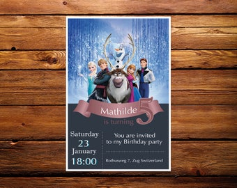Invitations or cards to print Frozen