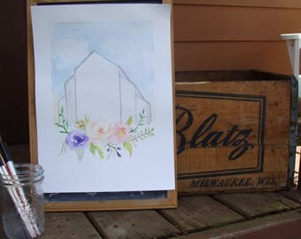 Sinnissippi Greenhouse - Original watercolor