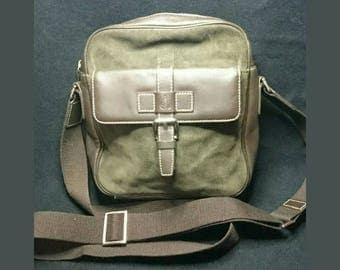 Bean Pole Brown And Green Crossbody Bag