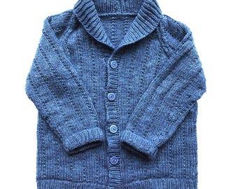 Knitted kids cardigan - Handmade Children's sweater – baby shower gift - toddler present