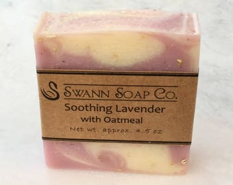 Soothing Lavender with Oatmeal Handmade Soap
