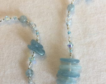 Bahama Blue Aquamarine necklace
