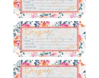 Fillable Coupon Template - Great Gift Idea!