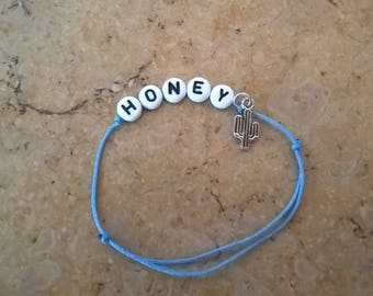 Bracelet Honey and pampille cactus
