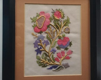 Hand embroidered table