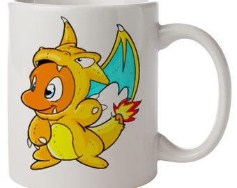 Charmander Wearing A Charizard Onesie. Pokemon Mug