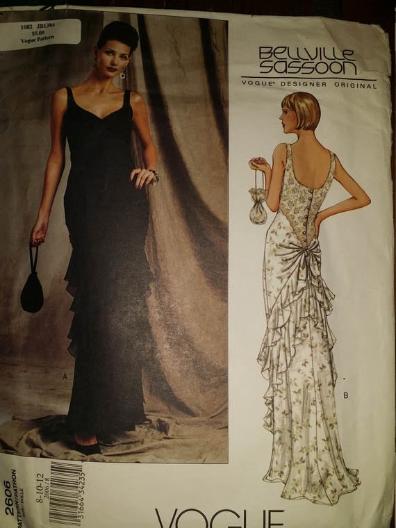 "Vogue Pattern 2606 uncut sz 8-12-12 vogue designer ""Bellville sassoon"""