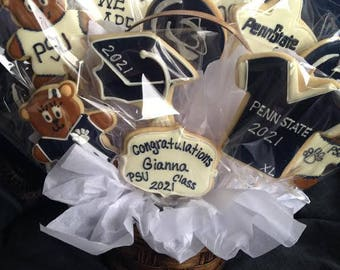 Penn State Cookie Bouquet| Logo |Nittany Lions | College mascot