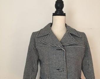 60's Houndstooth Crop Jacket