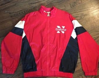 Early 1990's Starter Nebraska Cornhuskers zip-up jacket