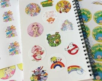 STICKERS 1980s cartoons (Select Design) Jem, Strawberry Shortcake, MLP, TMNT, Gummi Bears, Barbie, Care Bears, Ghostbusters, Rainbow Brite +