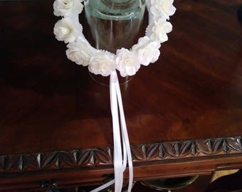Rose wreath headpiece for girls