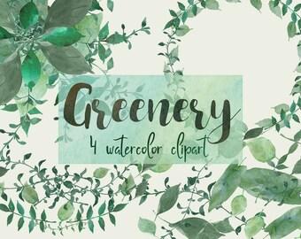 Greenery clipart, foliage clipart, leaf clipart, botanical clipart, leaf wreath clipart,wedding clipart,greenery clip art,invitation clipart