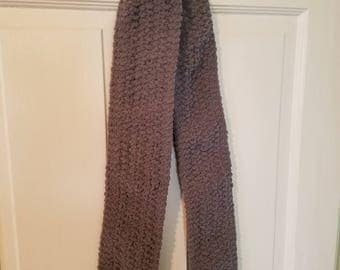 Silvery black/brown neck scarf