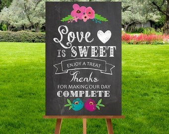 A3 Chalkboard Candy Sweet Cart Sign