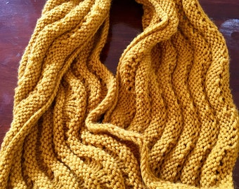 Yellow Lace Cowl