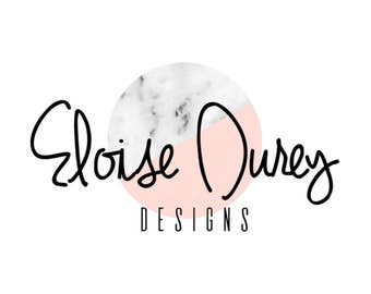 Pre Made Pink Marble Logo