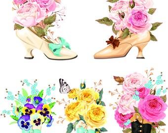 flowers in shoose