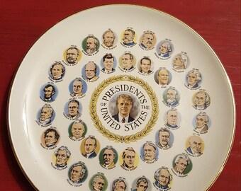 Presidents souvenir plate