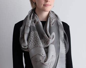 Wrap Yourself in Buddha Silk Wool - Charcoal