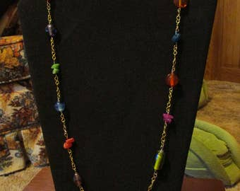Multicolored Long-Link Necklace