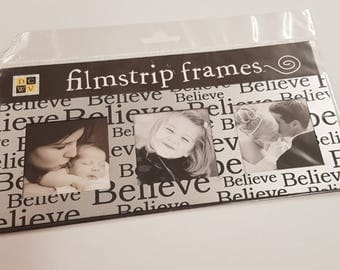 Silver and Black Scrapbooking Triple Frame Embellishment