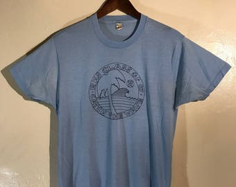 Vintage RHS High School Class of 1987 T shirt Catch The Wave