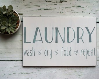 LAUNDRY SIGN | home decor | wood sign | cottage chic