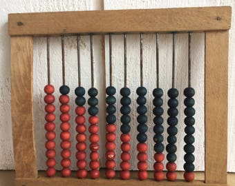 Former abacus in wood, old toy, toy to school