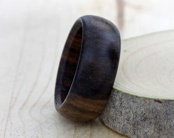 Macassar ebony wood ring - wooden ring - all sizes