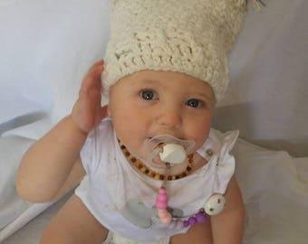 Crochet square beanie