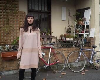 70s pink dress