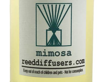 8 oz Mimosa Fragrance Reed Diffuser Oil Refill - Made in the USA