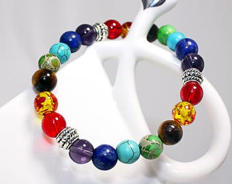 Rainbow Chakra Bracelet Meditation and Healing
