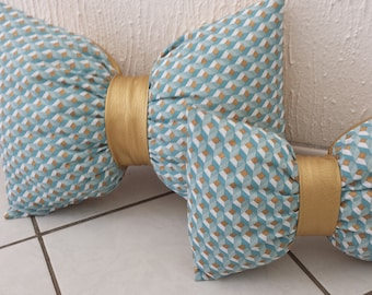 Cushions bow tie, for an original decoration, Northern spirit!