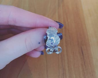 Victorian woman spoon ring