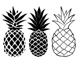 The Gallery For Gt Pineapple Silhouette Vector