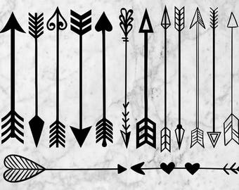 Arrows Svg Clipart, Hand drawn arrows svg, Handdrawn arrow, Boho Arrows eps & png files, Tribal arrows svg, Printable Arrows cutfile cricut
