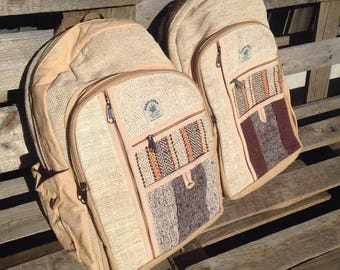 Natural Hemp Backpack - Made in Nepal! Hemp love bags